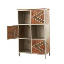 Belfort Solid Wood Cube Bookcase Industrial Display Rack