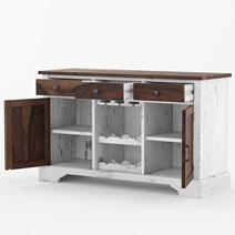 Alifron Farmhouse Style Two-Tone Buffet Bar Cabinet
