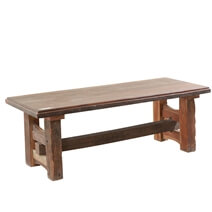 Courtenay Log Home Rustic Solid Wood Cabin Trestle Bench