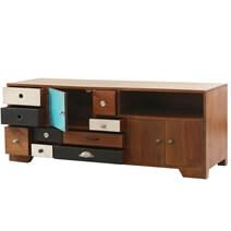 Souris Solid Wood Multicolor 9 Drawer Modern TV Media Cabinet