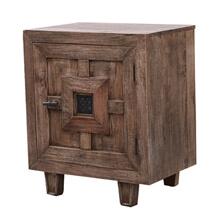 Saltash Rustic Solid Wood Handmade Accent Nightstand