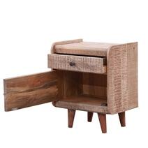 Marlow Rustic Solid Wood 1 Drawer Mid-century Nightstand