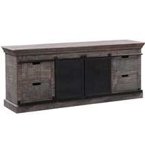 Aylesbury Rustic Solid Wood Sliding Barn Door TV Stand Media Cabinet
