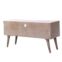Hawick Two-Tone Solid Wood 3-Drawer TV Media Console