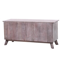Solid Wood Decorative Hand-Carved 2-Door TV Cabinet