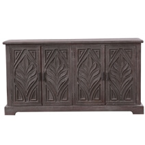 Allerdale Rustic Solid Wood Hand-carved Large Sideboard Cabinet