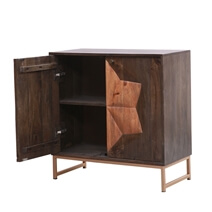 Newquay Rustic Solid Wood Modern Storage Cabinet