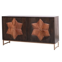 Newquay Rustic Solid Wood Modern Large Sideboard Cabinet