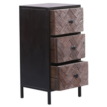 Toulouse Solid Wood Modern Rustic Chest of 3 Drawers