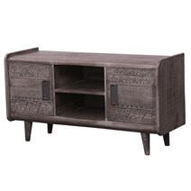 Nantwich Rustic Solid Wood TV Stand Media Cabinet