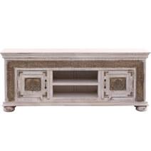 Valeska Brass Metal Solid Wood Handcrafted Traditional Media Cabinet