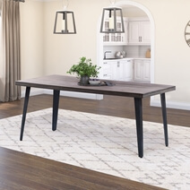 Busselton Rustic Solid Wood Farmhouse Dining Table