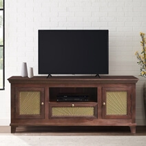 """Healesville Rustic Solid Wood Traditional 63"""" TV Stand Cabinet"""