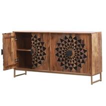 Venosa Mandala Solid Wood Contemporary Rustic Sideboard