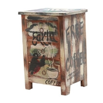 Ravenna Rustic Solid Wood Hand-painted Nightstand With 3-Drawers