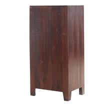 Socorro Rustic Solid Wood 3-Tier Vintage Armoire