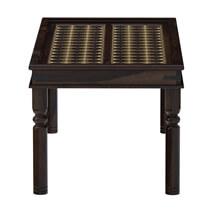 La Junta Brass Inlay Rustic Solid Rosewood Dining Table