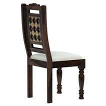 La Junta Brass Inlay Rustic Solid Rosewood Leather Chair