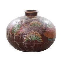 Solid Wood 14 Round Jar Decor