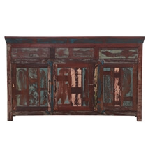 Reclaimed Wood 3 Drawer Sideboard Cabinet