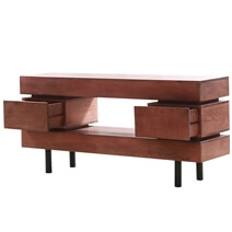 Rustic Solid Wood Contemporary TV Media Cabinet