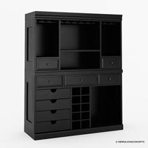 Sierra Vista Solid Wood Black Mahogany Home Bar Set