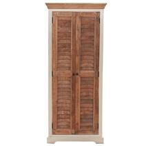 Solid Wood 2 Door 2 Tone Tall Armoire