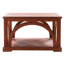 """Solid Wood 18"""" Square Coffee Table"""
