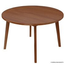 Ambrose Mid-century Modern Round Dining Table & Chair Set