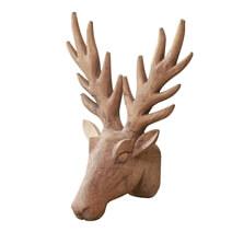 Rovigo Solid Wood Hand-carved Elk Wall Decor