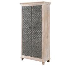 Welkom Modern Solid Wood 4 Tier Rustic Armoire