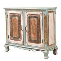 "Rustenburg Distressed Antique Solid Wood 36"" Storage Cabinet"
