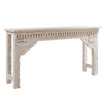 Solid Wood Hand-carved Baroque Console Table