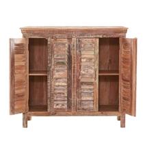 Reclaimed Wood 4-Door Sideboard Cabinet