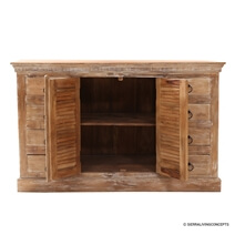 Solid Wood 8 Drawer Sideboard Cabinet