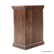 Antique Reclaimed Wood Single Door Storage Cabinet