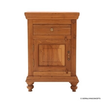 Traditional Solid Wood 1 Drawer Nightstand