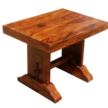 Appalachian Rustic Farmhouse Twin Bench Stool Set