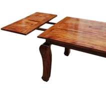 Rustic Wood Extension Cabriole Legs Dining Table