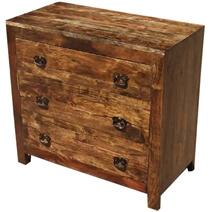 Appalachian Rustic Oak 3 Drawer Classic Dresser