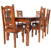Philadelphia Dining Room Table and Chair Set w Wrought Iron Grill Work