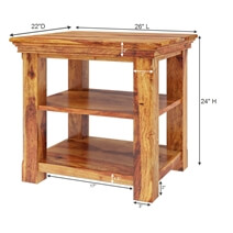 Priscus Midcentury Modern Style Solid Wood Rustic End Table