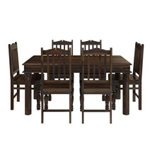 Oklahoma Farmhouse Traditional 5pc Solid Wood Country Dining Table Set