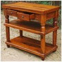 Rustic Wood 2 Storage Drawers Entry Console Hall Table