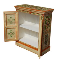 Annawan Solid Wood Hand Painted Garden Accent Small Armoire Cabinet