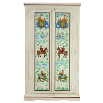 Alford Royal Heritage Large Hand Painted Solid Wood Armoire Wardrobe