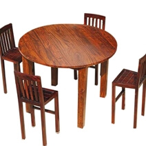 Nevada 5 pc Contemporary Counter Height Round Dining Table Chair Set