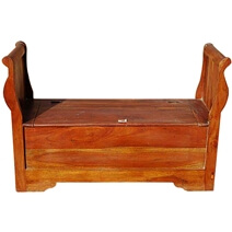 Solid Wood Indoor Storage Drawers Sofa Entry Way Bench