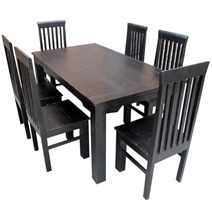 Lincoln Solid Rosewood Dining Table and Chair Set