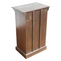 Carved Wood Storage Cabinet Side Table Night Stand Set